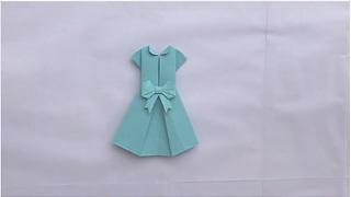 Origami magic: How to make a paper dress