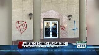 Westside church vandalized, satanic messages graffitied
