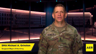 2021 Army's Annual AER Campaign with SMA Grinston