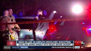 Man killed in deputy-involved shooting