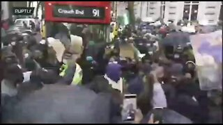 TENSE NIGERIAN PROTEST IN LONDON