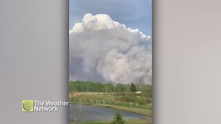 Smoke billows from wildfire burning in Saskatchewan