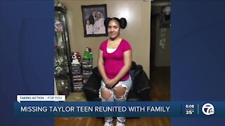 Missing Taylor teen reunited with family