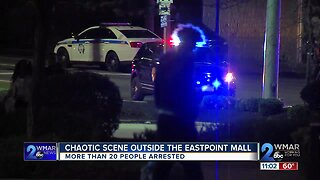 Chaotic scene outside Eastpoint Mall