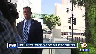 Rep. Hunter, wife plead not guilty to campaign charges