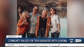 Community rallies after Bakersfield teen is diagnosed with leukemia
