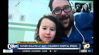 Father and daughter under examination at Rady Children's Hospital