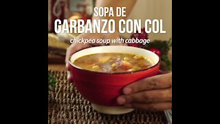 Chickpea Soup with Cabbage