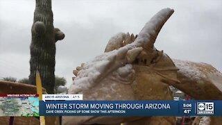 Winter storm moving through Arizona