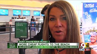 Allegiant offers more cheap flights to the beach