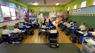 SOUTH AFRICA - Cape Town - First day of school for Grade 1, Goodwood Park Primary school(Video) (s8k)