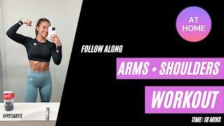 ✨ ARMS + SHOULDERS ✨ follow along workout