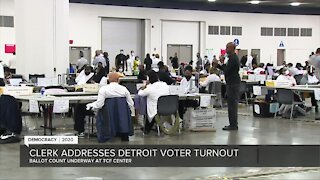 Detroit City Clerk addresses voter turnout