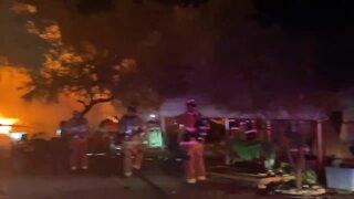 Northwest Fire crews battle mobile home fire near Marana