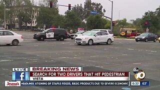Pedestrian hit, killed in Vista hit-and-run crash