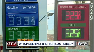 Higher gas prices in Las Vegas tied to higher prices at the pump in California