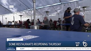 San Diego restaurants plan to reopen Thursday, after judge's ruling