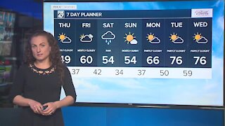 Freeze warning overnight; brighter with more sunshine Thursday