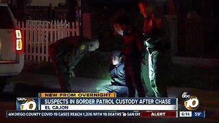 Arrests made after chase involving Border Patrol