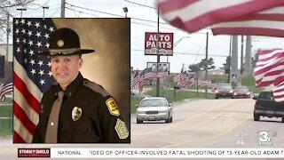 Local law enforcement agencies honor fallen Iowa State Patrol trooper