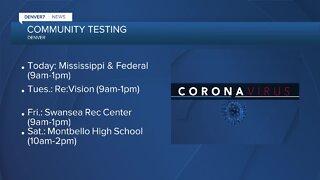 Denver has 4 Coronavirus community testing sites this week