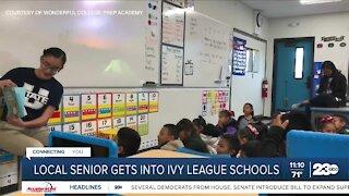 Local high school senior gets into Ivy League schools