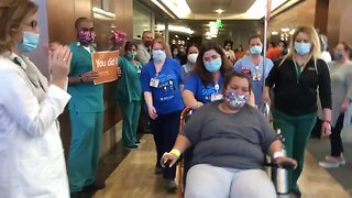 Dignity Health Memorial Hospital's first COVID-19 patient goes home