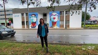 Sarasota mural honors health care workers fighting COVID-19