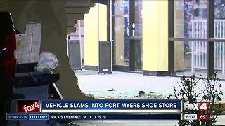 Shoe store damaged by car overnight in Fort Myers