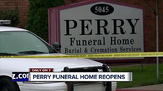 Perry Funeral Home now open after dozens of infant remains discovered last year