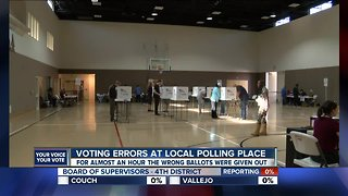 Candidates react to voting errors at local polling place