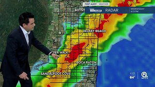 Storms, heavy downpours on Wednesday