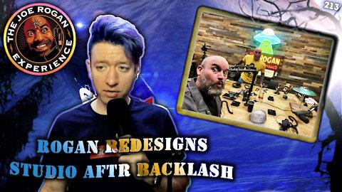 Joe Rogan Redesigns Studio After Backlash – Johnny Massacre Show 213