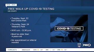 Free walk up COVID-19 testing