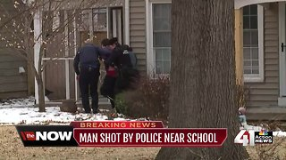 VIDEO: Police fire at suspect near elementary school