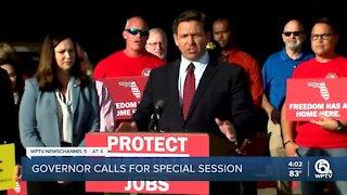 Gov. Ron DeSantis calls for lawmaker special session to fight federal COVID-19 vaccine mandates
