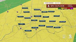 Slight risk for severe weather Friday
