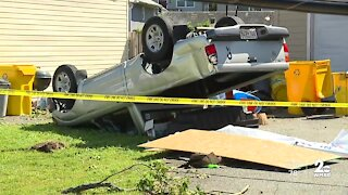 Homes damaged, power lines down in Edgewater