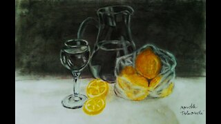 Crystal Cup with lemon
