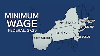 Minimum wage in WNY will increase by $.70 at the end of the year