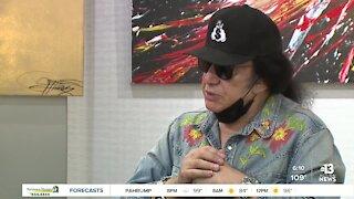 Gene Simmons opening art show in Las Vegas