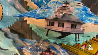80-year-old makes art with shells in Ocean City