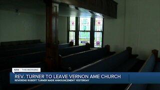 Rev. Turner to leave Vernon AME Church