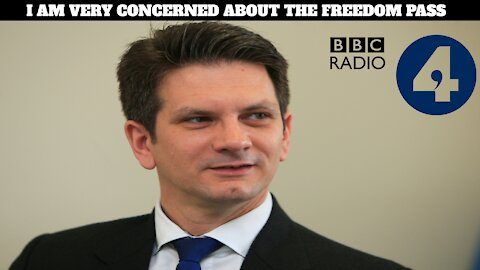 Steve Baker Calls Out The Government's Freedom Pass Lunacy On BBC Radio 4