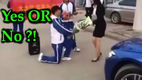 Embarrassed teacher rejects teenage student's inappropriate and bizarre marriage proposal at school