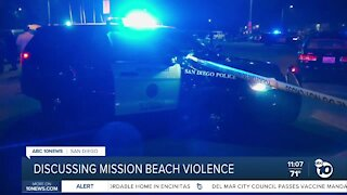 Discussing Mission Beach violence