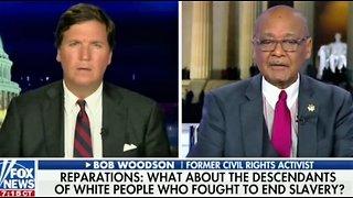 Civil rights activist slams slavery reparations on Tucker Carlson show