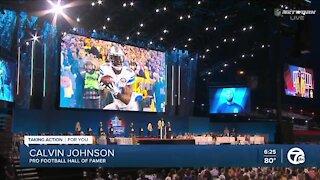 Calvin Johnson praises Lions fans at Hall of Fame speech