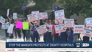 Nurses in Bakersfield protest California's vaccine mandate