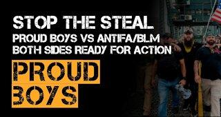 MAGA and ProudBoys vs Antifa and BLM